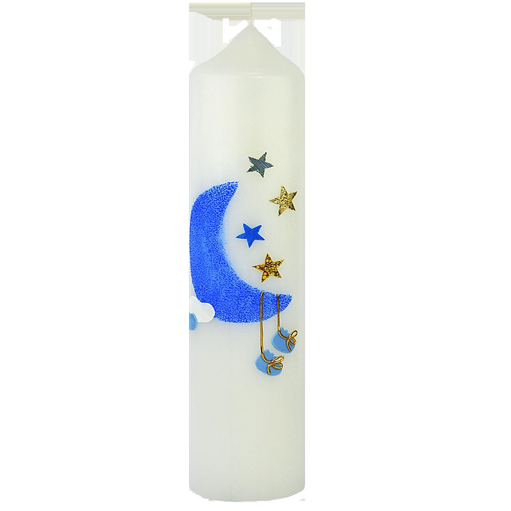 Mond Sterne Kleid: Taufkerze, Mond, Sterne, Blau